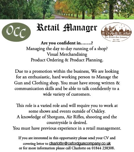 Image of Retail Manager Vacancy