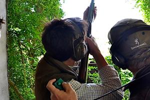 Picture of shotgun training