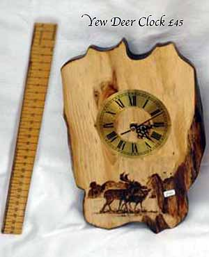 Yew Oak Deer Clock