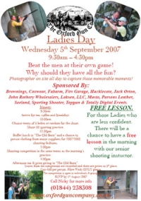 Ladies' Day - Wed Sept 5th 2007 - Come and join in!