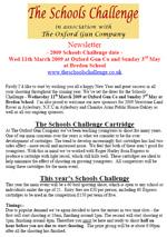 Schools Challenge Newsletter