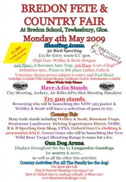 Bredon Fete & Country Fair details