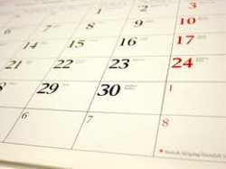 Calendar of events published