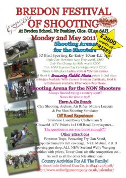 Join us at Bredon Festival of Shooting - Mon 2nd May