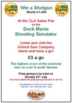 Duck Mania at CLA - win a £1,400 shotgun
