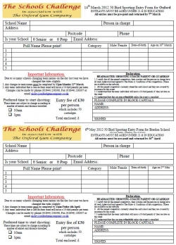 TSC 2012 Entry Form and rules - book early!