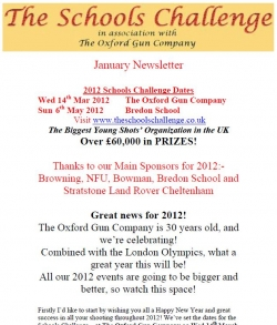 TSC Jan 2012 Newsletter