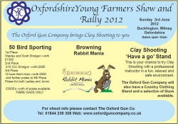 Young Farmers Show - Sun 3rd June!