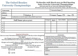 Oxford Brookes University Championship