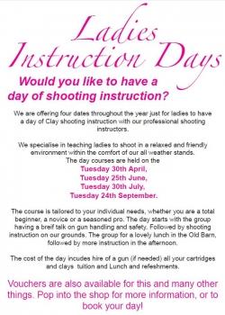 Ladies Instruction Days