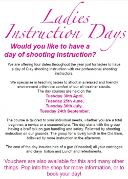 Ladies Instruction Day 30th April 2013