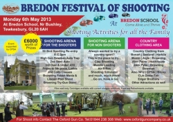 Join us at Bredon Festival of Shooting - Mon 6th May