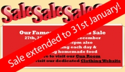 SALE EXTENDED - to 31st Jan!