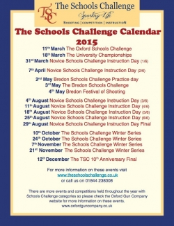 TSC 2015 Dates - get them in your diary!