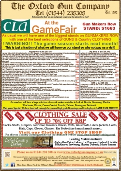 CLA Game Fair - Come and say hi!