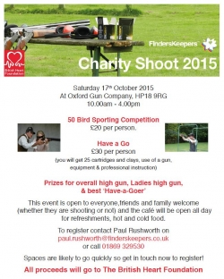 FindersKeepers Charity shoot - Oct 17th