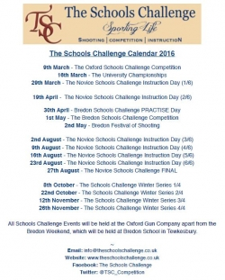 TSC 2016 Dates - get them in your diary!
