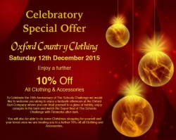Extra 10% of clothing & accessories on 12th December!