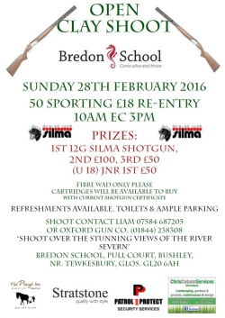 Open Clay Shoot at Bredon School - February 28th