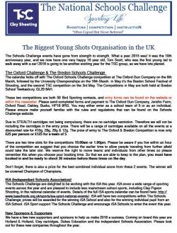 TSC Newsletter 2016