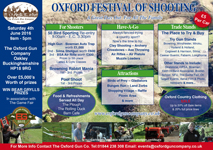 Oxford Festival of Shooting 2016