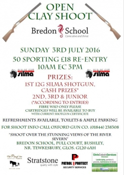Open Clay Shoot at Bredon School - June 19th
