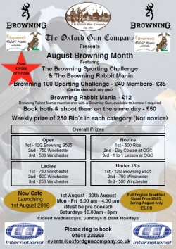 August Browning Month 2016