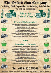 Cake & Clays, Fri 30th and Sat 1st