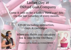 Ladies Day this Saturday, 29th Oct