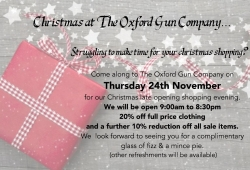 Xmas shopping - Nov 24th to 8.30pm