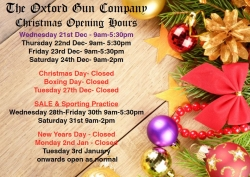 Christmas opening hours 2016