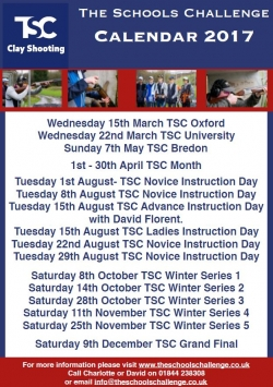 TSC dates for 2017