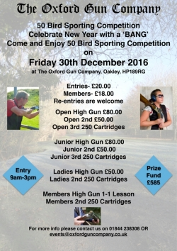 New Year Comp - Fri 30th