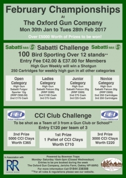 February Competition Details