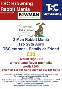 TSC Rabbit Mania April 2017