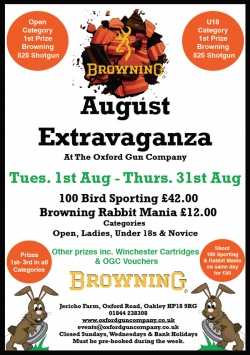 Poster advert for August Extravaganza