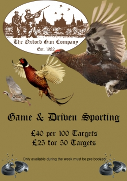 Poster for our Game and Drive Sporting