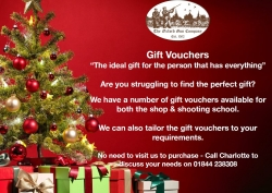 Gift Vouchers for Christmas!