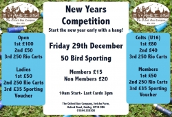 New Year Competition - 29th Dec