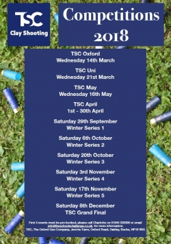 TSC dates for 2018 - Full List