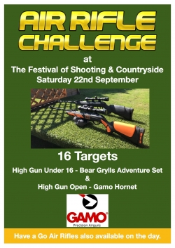 Air Rifle competition - 22nd Sep poster