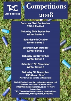 TSC dates for 2018