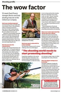 David Florent in Sporting Gun