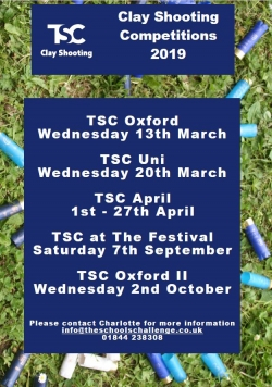 TSC dates for 2019