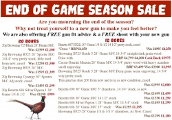 Game Season CLEARANCE Sale