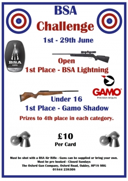 BSA Challenge, 1st to 29th June