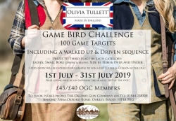 Olivia Tullett Game Bird Challenge - July 2019
