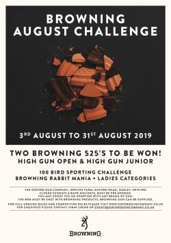 Browning Challenge, Aug 2019