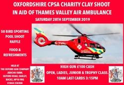Air Ambulance Charity Shoot 28th Sept!
