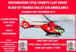Air Ambulance Charity Shoot 28th Sept!